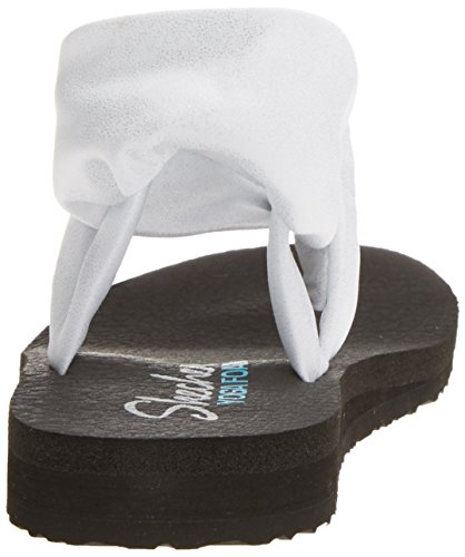 para Sandalias Mujer Flip Skechers Blanco Wsl Flop Disco Meditation gEwqXZ