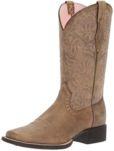 Ariat Women's Round up Remuda Western Cowboy Boot, Brown Bomber, 7.5 B US ()