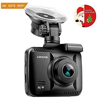 Cámara de coche Dashcam WiFi GPS 2160P 4 K Dashcam visión nocturna ...