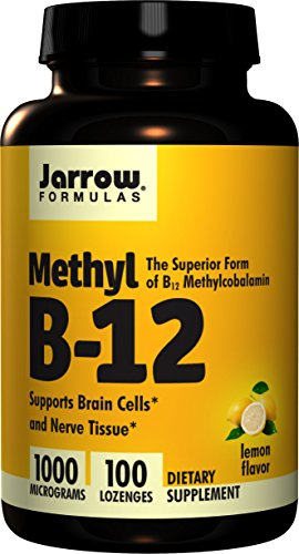 Jarrow Formulas Methyl-B12, Lemon Flavor, 1000mcg, 100 Lozenges  , Pack of 4 by Jarrow Formulas