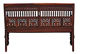 Shilpi Handmade Sheesham Wooden Intricate Motif Designs Two Seater Sofa, Couches Honey Great Finishing Polish