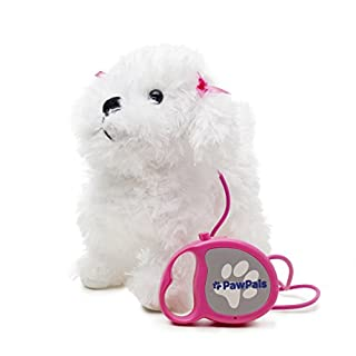 Meva Kids Walking and Barking Puppy Dog Toy Pet with Remote Control Leash (White)