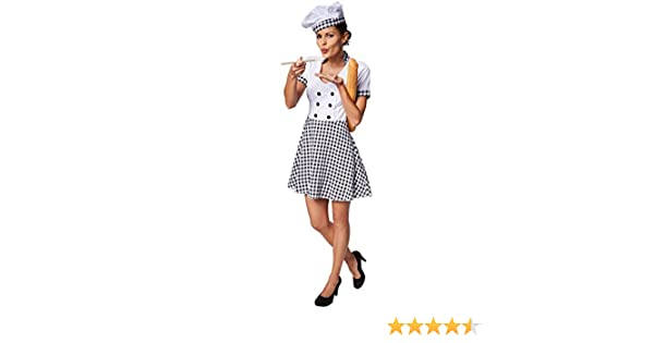 TecTake dressforfun Disfraz para Mujer de cocinera | con patrón de ...