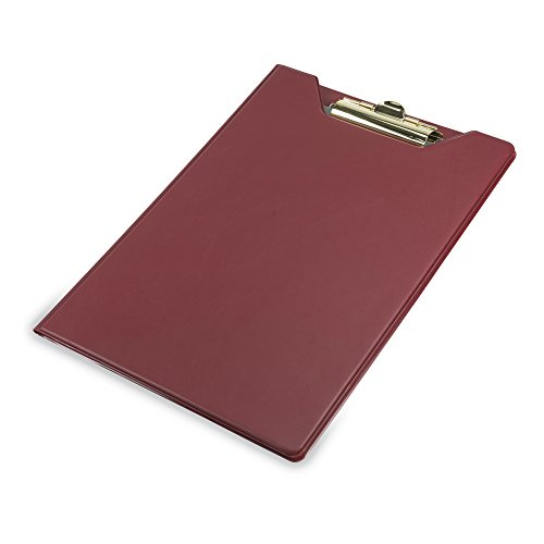Samsill 71414 Value Padfolio, Heavy Vinyl, Brass Clip, Writing Pad, Inside Pocket, Burgundy by Samsill (Image #3)