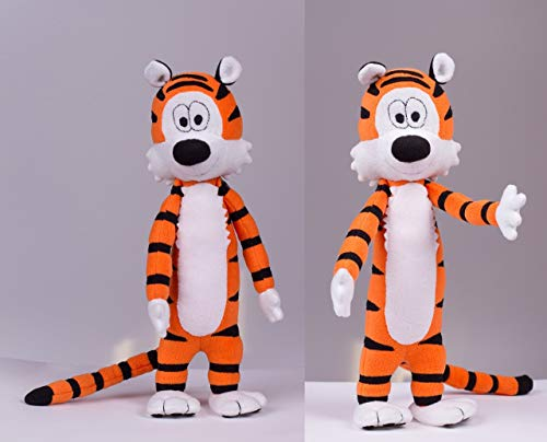 Tiger plush, Handmade stuffed toy, 16.9 in high (Tigers Batting)