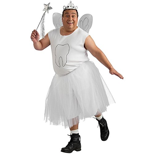 Tooth Fairy Adult Costume - Plus (Tooth Fairy Costume For Adults)
