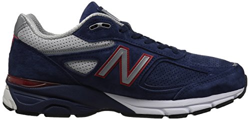 New Balance Men's 990v4 Running Shoe, Blue/Pigment Red, 7 D US by New Balance (Image #6)