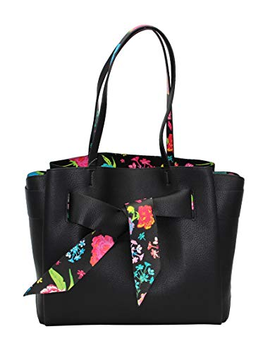Betsey Johnson Up With a Twist Tote, Black (Betsey Johnson Totes Black)