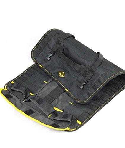 Herramienta de Protección Herramienta Rollo Bolsa Bolsa Carrier Use material impermeable negro multiusos
