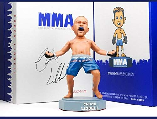 (UFC Bobblehead Limited Chuck Liddell - MMA UFC Action Figures The Iceman Fight Night Sports Memorabilia , Handmade, Hand Painted, Limited, Numbered)