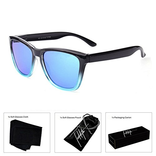 Teddith Polarized Sunglasses Gradient Plastic Frame (C01, - Online Gradient Make