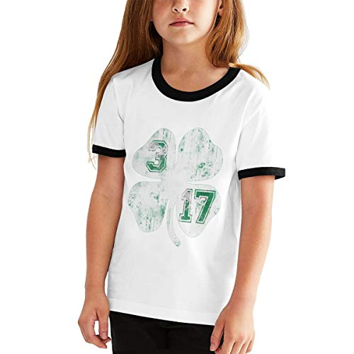URAHARA St Patrick's Day On March Girls Boys T Shirt Adolescent Youth Stylish Black ()