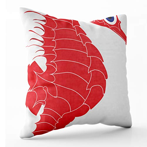 - Shorping Sleepyhead Pillow Cover, Zippered Pillowcases 16x16 Inch Throw Pillow Covers sea Horse for Home Sofa
