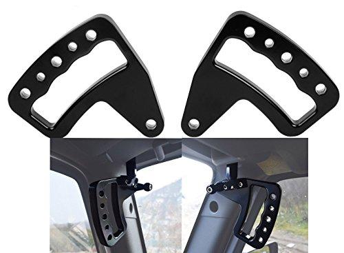 Black Aluminum Grab Bar Front Grab Handle for Jeep Wrangler JK JKU 2007-2017 Unlimited Rubicon Sahara Sport 2/4 door - Pair