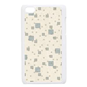 Custom Check Pattern Back Cover Case for ipod Touch 4JNIPOD4-080
