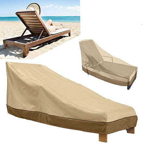 Rziioo Cubierta de Chaise Longue para Patio, Cubierta de sillón de Exterior Resistente al Agua para Trabajo Pesado,...