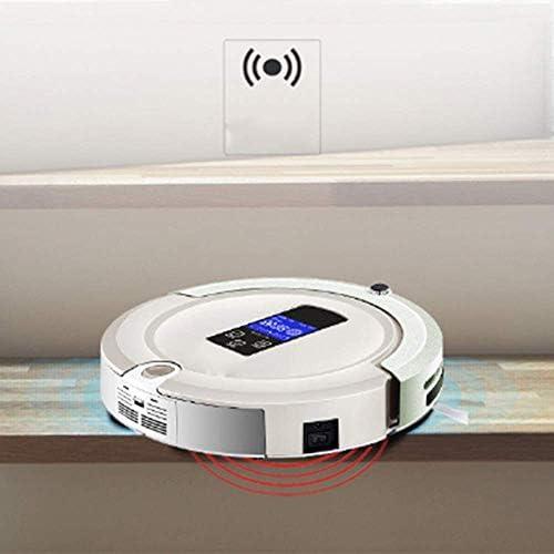 Zixin Aspirateur Robot Haute Aspiration avec Bluetooth Réservoir d\'eau Anti-Chute Télécommande Anti-Collision Protection Auto Station de Recharge Nettoyage Robot