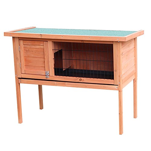 """Festnight 36"""" Outdoor Wooden Bunny Rabbit Hutch House with Pull Out Tray Single Deck Waterproof Chicken Coop Hen House Pet Poultry Cage Garden Backyard Animal Nesting Box from Festnight"""