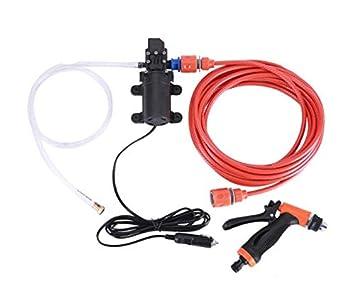 XYEU Sistema de Lavado de Coches Portátil Car Sprayer Kit de Lavadora de Lavado Eléctrico de Alta Presión Autocebante Bomba de Agua 12V 70W 6L/Min: ...