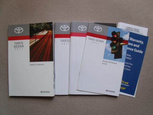 2011 Toyota Yaris Sedan Owners Manual / Excellent Condition