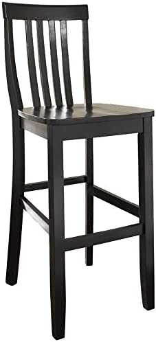 Crosley Furniture Schoolhouse Bar Stool Set of 2 , 30-inch, Black