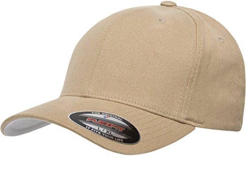 Blank FlexFit Brushed Twill Ball Cap Hat 6377 (S/M 6 3/4