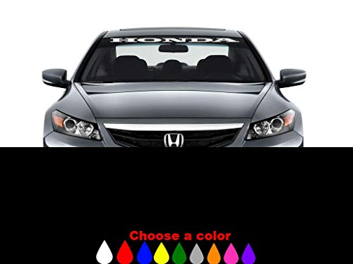 (Montree Shop Honda Windshield Window Banner Decal Vinyl Sticker Race Honda Civic Accord sol)