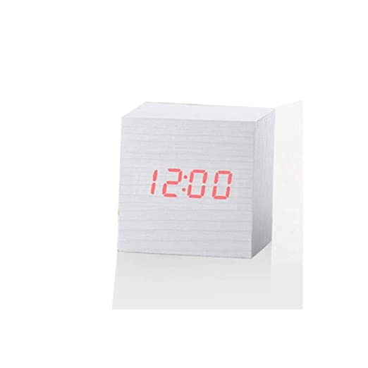 Amazon.com: Digital Thermometer Wooden LED Backlight Voice Control Retro Clocks: Clothing