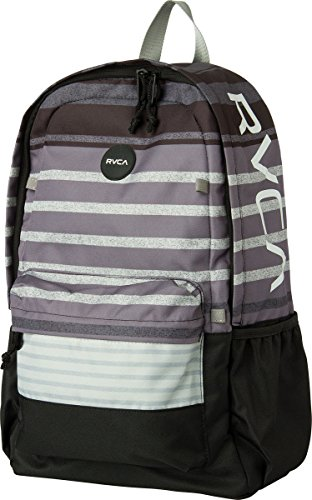 Rvca Unisex Frontside Print Backpack, Grey