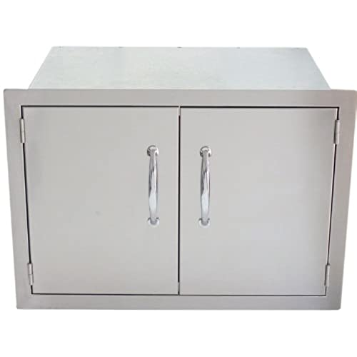 sunstone dsh30 30 inch double door dry storage - Outdoor Kitchen Cabinets