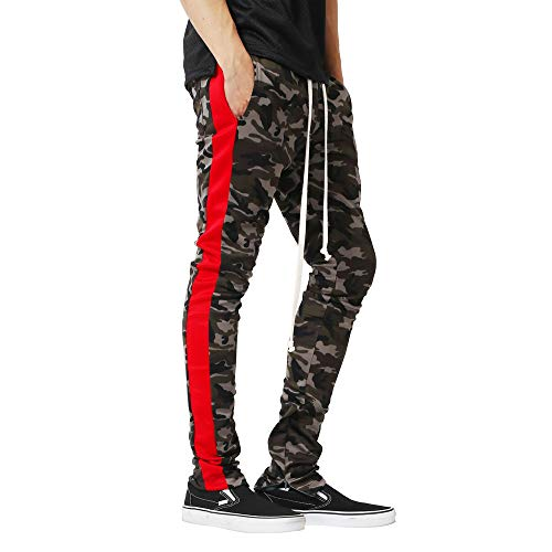 iYBUIA Men Camouflage Pants Colorful Pocket Sport Work Trouser -