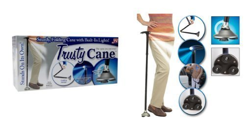 Trusty Cane with Built-In Lights (Black) - 9