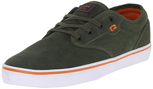 Globe Mens Motley Skate Shoe Oliva / Ruggine