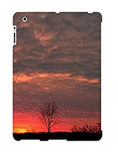 Christmas Day's Gift- New Arrival Cover Case With Nice Design For Ipad 2/3/4- Sky Nature Blue Clouds Sun Sunset Orange Sunrise