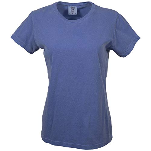 (Comfort Colors Women's Short Sleeve Tee, Style 3333, Flo Blue, X-Small)