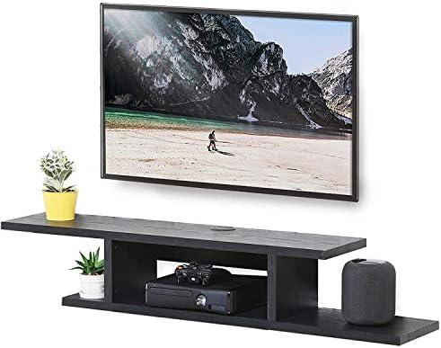 Floating TV Stand Wall Mounted Media Storage AV Shelves Entertainment Center