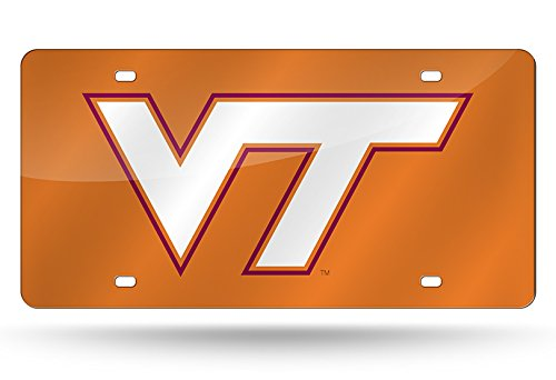 - NCAA Virginia Tech Hokies Laser Inlaid Metal License Plate Tag