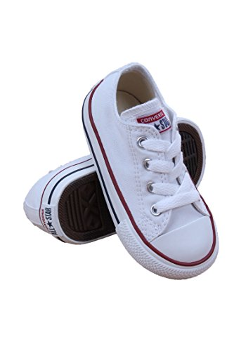 Converse Chuck Taylor All Star OX Shoe - Toddler Girls' Optical White, 8.0 (Shoes All White Star Girls For)