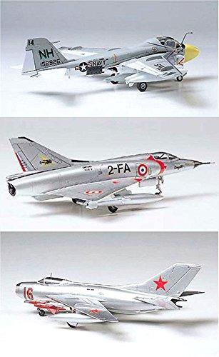 3 Tamiya Model Plane Bundle – Dassault Mirage III C, Grumman A-6A Intruder and MiG-19 Farmer (Japan Import)