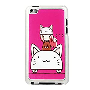 Unique Cat and Girls Pattern Phone Protective Shell Cover Case Skin For Apple iPod Touch 4