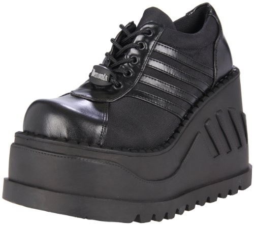Womens Platform Stomp (Pleaser Women's Stomp-08 Oxford,Black Polyurethane,8 M US)