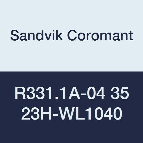 Sandvik Coromant R331.1A-04 35 23H-WL1040 PVD Coated Solid Carbide CoroMill 331 Face Indexable Milling Insert Light Chip Breaker 0.0902 Nose Radius Pack of 10 4 Inscribed Circle 0.1378 Thick