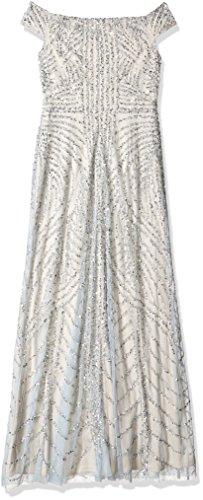 silver Manga Adrianna Ap1e201474 Papell Mujer Corta Blue Vestido Heather qtz8tSnr