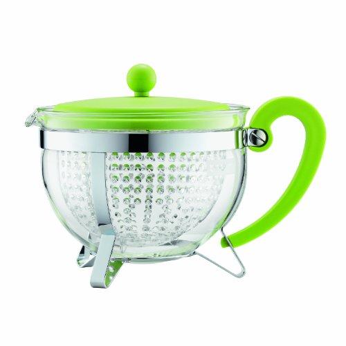 Bodum Chambord 1.3-Liter Tea Pot, 44-Ounce, Green