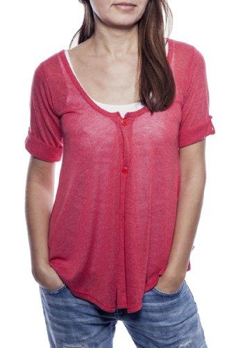 Ella Manue Women Babydoll Shirt Camiseta para Mujer Madelene Red