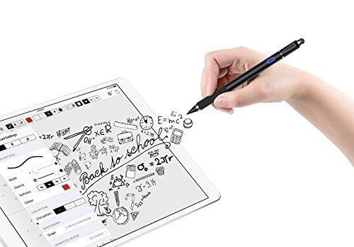 MoKo Active Stylus Pen, 2-in-1 High Sensitivity and Precision Point 1.5mm Capacitive Stylus, with Soft Rubber Tip, for Touch Screen Devices Tablet/Smartphone iPhone X/ 8/8 Plus, iPad, Samsung - Black by MoKo (Image #8)
