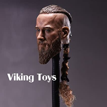 Amazon Com Unbrand 1 6 Male Sculpt Model Vikings Braid Ancient Solider Head Carving Model F Figure Toys Games