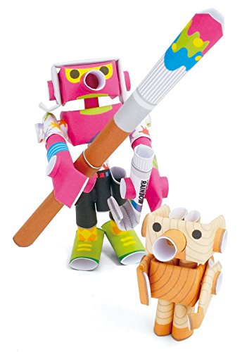 PIPEROID Andy & Pino Paper Craft Robot kit from Japan - Art Prodygy & Wooden Doll Model