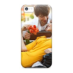 New Hard Cases Premium Iphone 5c Skin Cases Covers(man-and-girl-love)