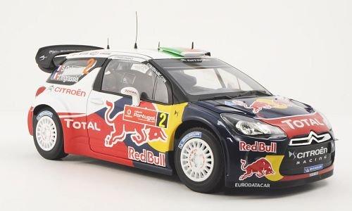 Citroen DS3 WRC, No.2, ROT Bull / Total, Rally Portugal , 2011, Modellauto, Fertigmodell, Norev 1:18